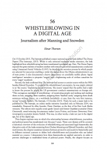 Whistleblowing in a Digital Age